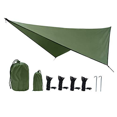 Protección solar impermeable a prueba de viento ligero multifuncional tienda de lluvia refugio para acampar senderismo mochila pesca al aire libre aventura supervivencia 360x290cm