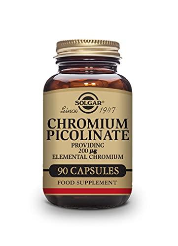 Solgar Cromo Picolinato 200 µg elemental, 90 Cápsulas vegetales