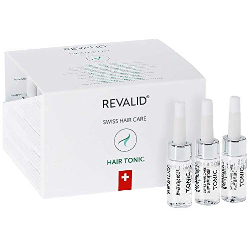 Price comparison product image REVALID Hair tonic energizing formula comprising caffeine fights follicle aging,  prevents hair loss and stimulates hair growth 20 vials x 6 ml Made in Switzerland