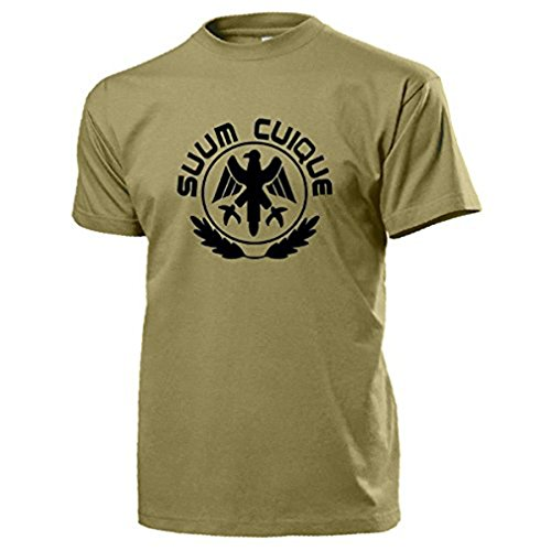 SUUM CUIQUE Preußen Bundeswehr Feldjäger MP Military Militär - T Shirt #13079, Farbe:Sand, Größe:Herren XL
