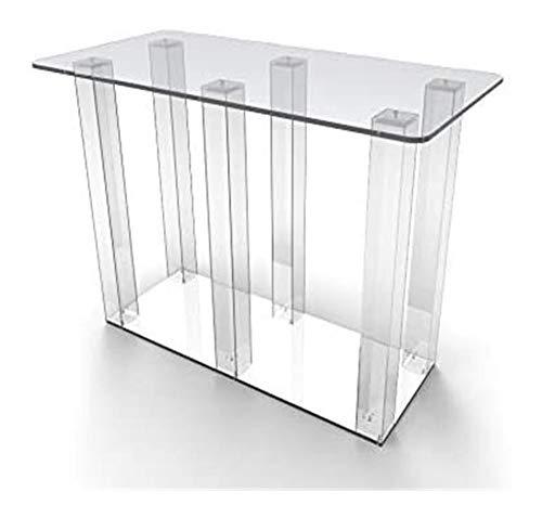 Yyl Plexiglas Esstisch Konferenz Schreibtisch-Computer-Schreibtisch Büro-Schreibtisch-Arbeitsplatz for Haus und Büro-Gebrauch Kleber Version