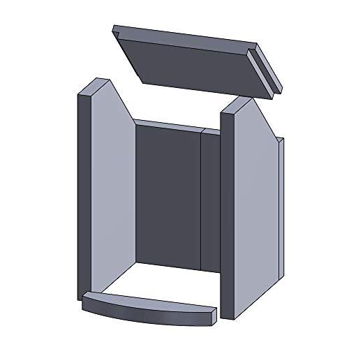 Kaminofen Vermiculiteplatten passend für Hark NEO, TIAMO, TIAMO-EX - Set 6-teilig Feuerraumauskleidung