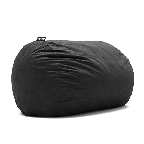 Big Joe Lenox Fuf Foam Filled Bean Bag, Extra Large, Black -