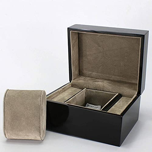 PSY Caja de Reloj Negra de Gama Alta Caja de Embalaje de joyería Caja de Almacenamiento de Reloj de Moda Personalización de Caja de joyería