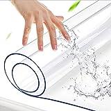 PPOIU Mantel Transparente de 2 mm, Cubierta de Mesa de plástico Transparente Fuerte, limpiable, PVC Impermeable y Anti escaldaduras, Protector de Mesa para Mesa de Comedor, Escritorio (t