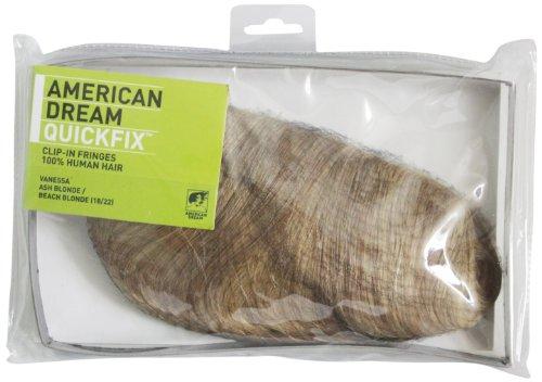 American Dream - FRA1/QFC/VANESSA/18/22 - 100 % Cheveux Naturels - Frange Vanessa - Couleur 18/22 - Blond Cendré / Blond Plage