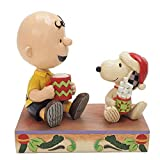 Enesco Peanuts by Jim Shore Charlie Brown and Snoopy With Hot Chocolate Figurita...