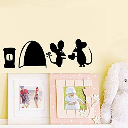 TYLOLMZ Afneembare cartoon-sticker, hygiënische muursticker, liefhebbers, leuke stopcontact, muis, schakelaar, wandsticker, doe-het-zelf, decoratie, voor thuis
