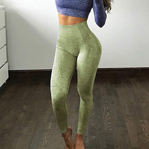 WWZEMLK Yoga Broek, Hoge taille Donker Groen Yoga Broek Gym Naadloze Leggings Oefening Panty Vrouwen Pant Gym Leggings Fitness Yoga Hardlopen Sport Kleding, S