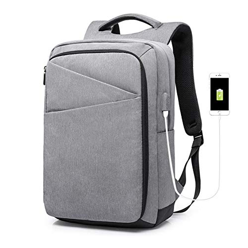 ZXSJKYHY Business 15.6 Zoll Laptop Rucksack Intelligente ,Reise Laptop Rucksack,Reise Rucksack USB Aufladung Und Wasserabweisender College Herren Daypack 30 * 18 * 43 cm/grau