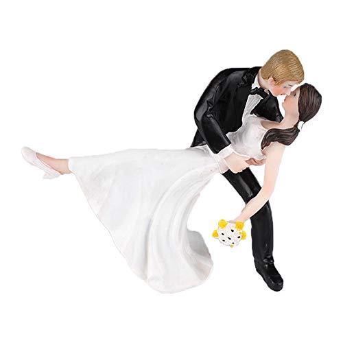 SwirlColor Cake Toppers matrimonio romantico Tango danza resina bambole figurina sposa e sposo per la decorazione della torta