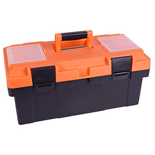 18-inch Toolbox,Consumer Storage and Craftsman Tool box for Tools,Craft Storage,Toys, Parts,Locking Lid and Extra Storage