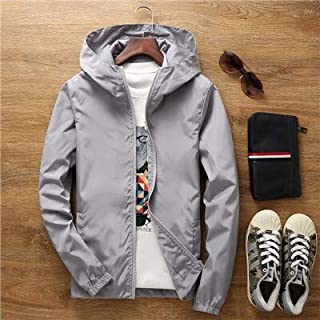 Thin Jacket Female Spring Autumn Large Size 7XL Overalls Summer Sunscreen Windbreaker Jacket Sunscreen Clothing Couple Models jacket (Color : Gray, Size : 4XL)