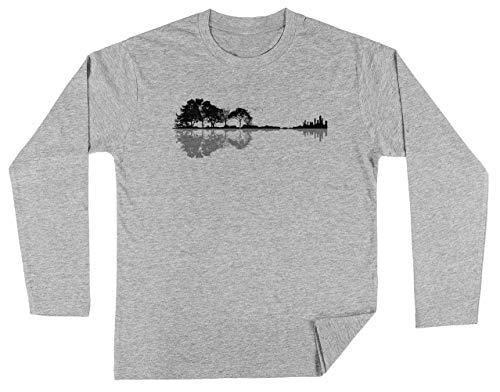 Natuur Gitaar Unisex Kinder Jongens Meisjes Lange Mouwen T-shirt Grijs Unisex Kids Boys Girls's Long Sleeves T-Shirt Grey