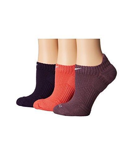 New Nike 3 Pack Women's Dri-FIT Cushion No-Show Tab Socks Multi Color Medium