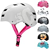 SkullCap® Casco de Skate y BMX - Bicicleta Y Scooter Eléctrico, Diseño: SC Pink, Talla: L (58-61 cm)