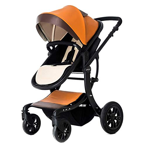 TQJ Cochecito de Bebe Ligero Cochecito de bebé Multifuncional High Landscape Stroller Carrito Plegable Cochecito de bebé Cochecito recién Nacido (Color : #6)