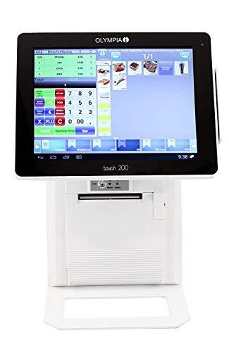 Olympia Touch 200 All-in-One Kassensystem (für Gastronomie und Handel Registrierkasse, Kasse Betriebssystem Android bis zu 384 Tische) weiß
