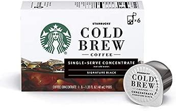 Starbucks Cold Brew Coffee   Signature Black Single-Serve Concentrate Pods   6 boxes (36 capsules total)