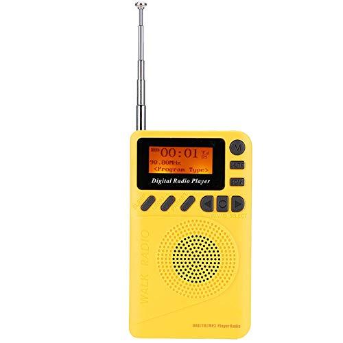 Draagbare mini-radio's, Pocket Digital DAB + FM-radio Stereo-ontvanger met lezer MP3-speler, Pocket FM-radio Ingebouwde 1000 mAh voor binnen en buiten reizen.
