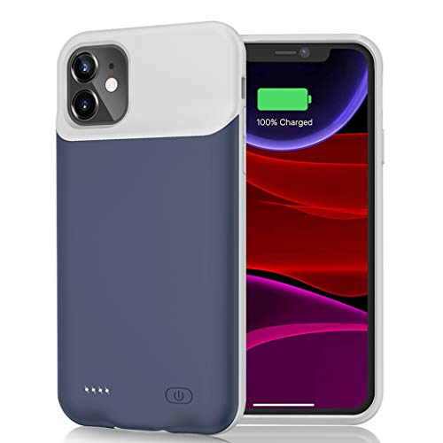 Battery Case for iPhone 11, 6500mAh Portable Rechargeable Battery Pack Charging Case Compatible with iPhone 11 (6.1 inch) Extended Battery Charger Case (Blue)