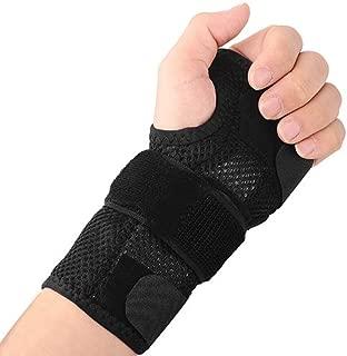 手首サポートスプリント-手根管症候群、骨折、腱炎、捻挫、関節炎用の調整可能なハンドブレース安定剤,Right,L
