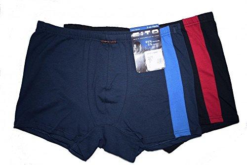 CiTO Herren Pants Boxershorts 2er Pack (8, Blau)