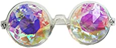 STLY Kaleidoscope Glasses Rainbow Rave Prism Diffraction Googles Clear Frame