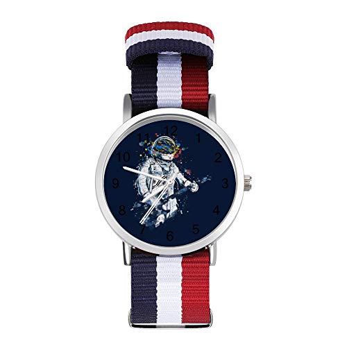 Astronaut Gitarre Freizeit Strap Uhren Geflochtene Uhr mit Skala