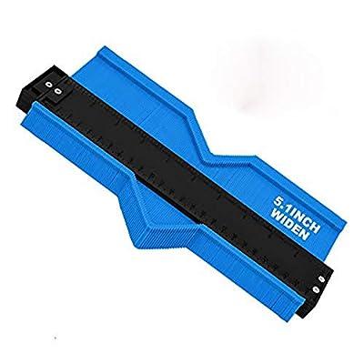 Contour Gauge 10inch Shape Duplicator Profile Copy Tool Shape Measuring for Corners and Contoured Blue