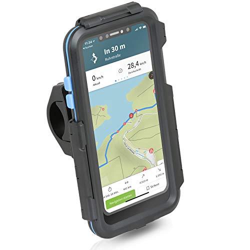 Wicked Chili Tour Case kompatibel mit Apple iPhone XR (6,1 Zoll) passgenaues Case mit Fahrrad Lenkerhalterung für Navigation (Schutz vor Regen, Ladekabelanschluss) schwarz