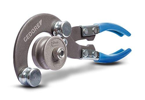 GEDORE universele buigtang incl. 2 buigvormen, buisdiameter 4,75-10 mm, glanzend vernikkeld staal/kunststof, zilver/blauw