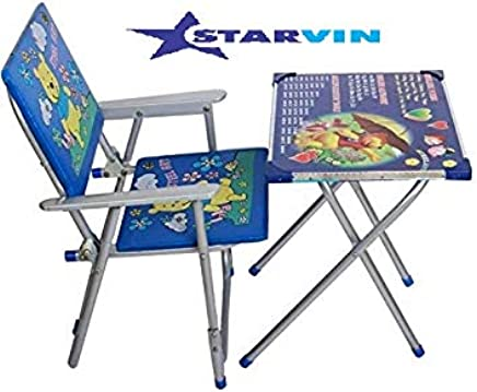 STARVIN Boom Study Table Chair Set for Growing Kids (F-62, Multicolour, 2-6 Years)