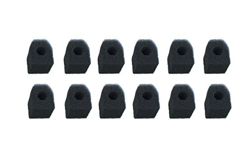 LTWHOME Bio Sponge Fit for Penn Plax Cascade 300 Internal Filter Replacement Cartridges(Pack of 12)