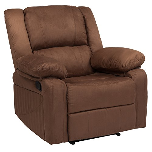Flash Furniture Harmony Series Chocolate Brown Microfiber Recliner