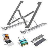 Nestns Laptop Stand for Desk - Laptop Riser Computer Tablet Stand, 7 Angles Adjustable Aluminum Ergonomic Foldable Portable Monitor Stand Compatible with MacBook iPad HP Dell More 10-18 Inch Laptops
