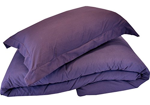 Mezzati Luxury Duvet Cover 2 Piece Set – Soft and Comfortable 1800 Prestige Collection – Brushed Microfiber Bedding (Purple, Twin/Twin XL Size)