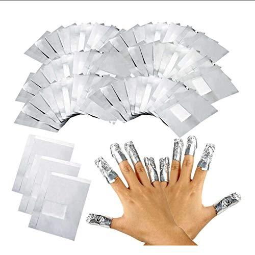 LUVODI Nail Polish Remover Folie Nagellackentferner: 100 Stück Aluminiumfolie Nagellack Remover