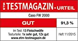 Caso FW2000 Elektrischer Fleischwolf, inkl. Spritzgebäck, Aufsatz 800 W nominal, 2000 W locked, ca. 2kg/ Minute, Alu Guss Gehäuse, starker Motor - 15