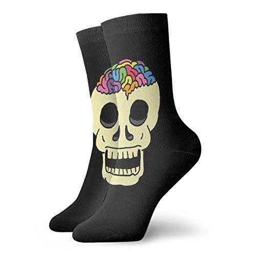 Tammy Jear Mignon arc-en-ciel cerveau crâne chaussettes courtes adultes chaussettes mignonnes pour hommes femmes yoga randonnée cyclisme course à pied football sport