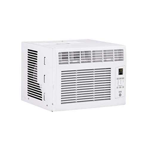 GE 6,000 BTU Electronic Window Air Conditioner, Cools up to 250 sq. Ft, Easy Install Kit & Remote Included, White