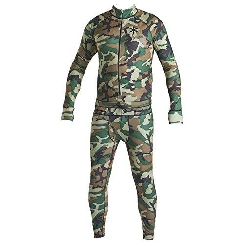 AIRBLASTER Mens Merino Hooded Outdoor Base Layer Ninja Suit Medium AB15MNJ1/_005 Olive Fish