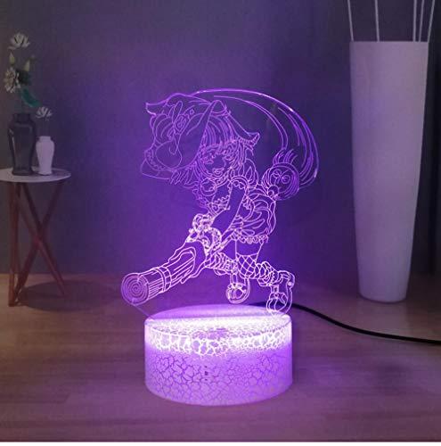 QAZQAZ Halloween Symbol Cartoon Hexentischlampe Schöne Hexe auf einem Besen führte Nachtlicht Usb Touch Schlafzimmer Nachtlampe Nachttischlampe Geschenk