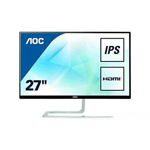 AOC i2781FH 68,6 cm (27 Zoll) Full-HD Monitor (VGA, 2xHDMI, 1920 x 1080, 4ms Reaktionszeit, 60 Hz) schwarz