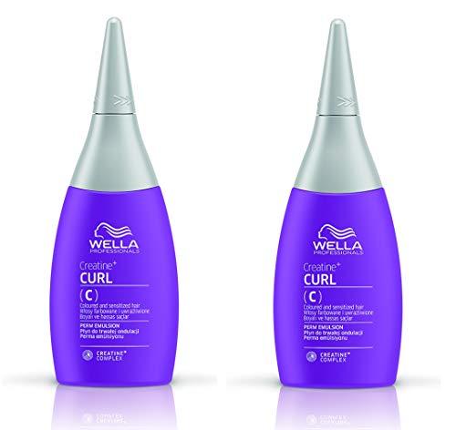 2er Perm Emulsion Curl C Creatine + coloriertes und sensibles Haar 75 ml