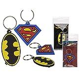 Llavero de goma Superman Batman