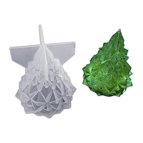Siwetg Stampo in silicone a forma di albero di Natale, involucro per lampadine fai da te, ideale per la camera da letto, realizzato a mano in resina epossidica