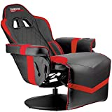 Turismo Racing Stanza Gaming Recliner - Ultimate Reclining Chair for Playstation 5 and Xbox Gaming - Red