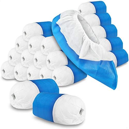 com-four® 150x Cubrezapatos Reutilizables premium11,9 g por cubrezapatillas - Cubrezapatillas de plástico con Suela Antideslizante - Zapato Reutilizable Extra Fuerte e Impermeable
