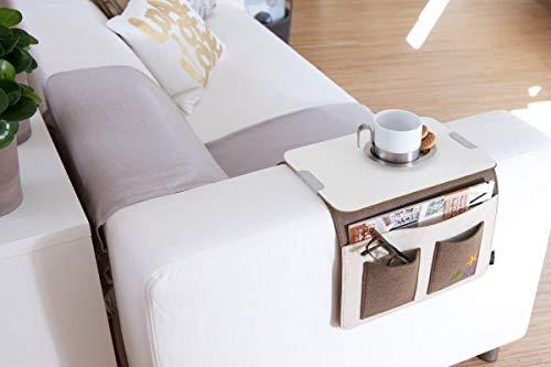 Willys-Fachmarkt Sofa-Butler Carry Sofatablett in grau und braun (grau)